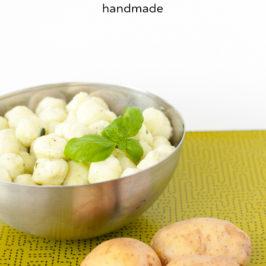 Handmade Basilikum Gnocchi