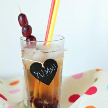 Trauben-Chai mit Ahornsirup