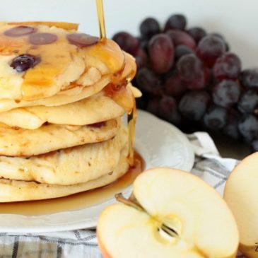 Apfel-Trauben-Pancakes bei Dila vs Kitchen