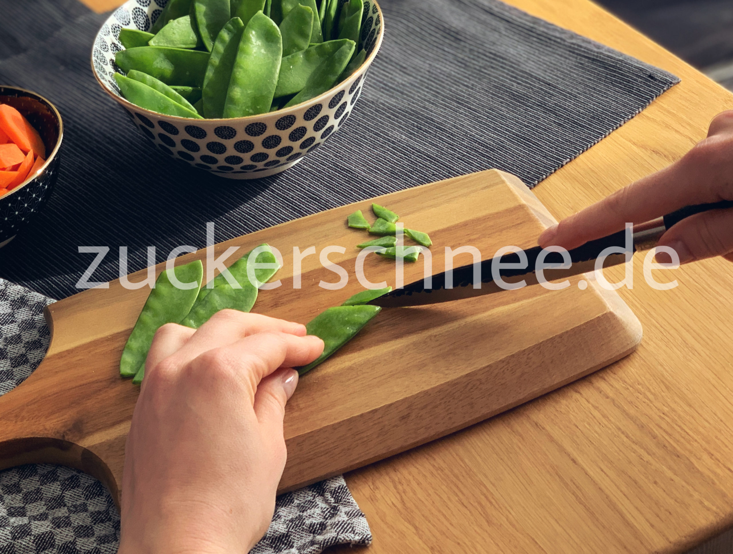 Zuckerschoten zubereiten