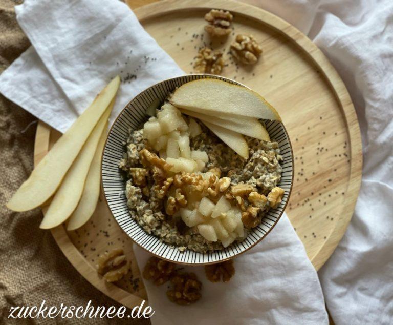 Birnen Porridge