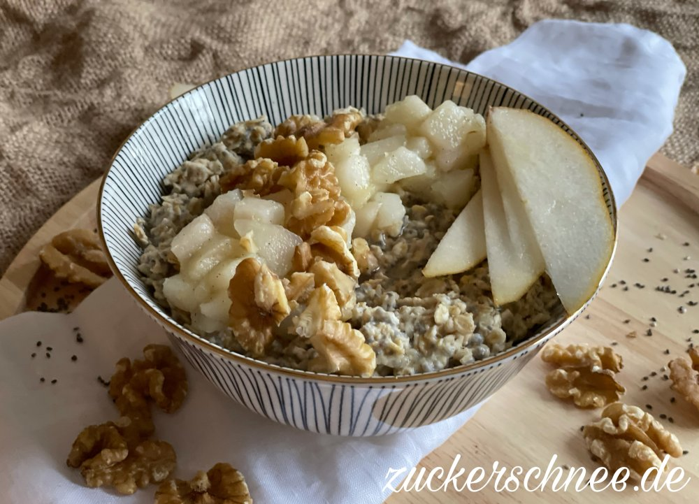 Porridge Birnenkompott
