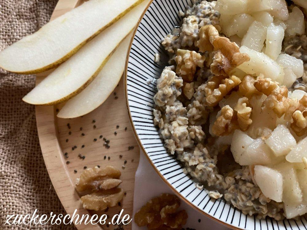 Porridge mit Birne Rezept