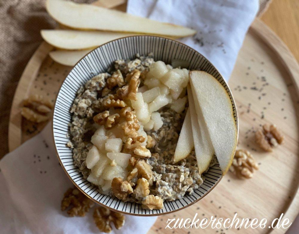Porridge mit Birne